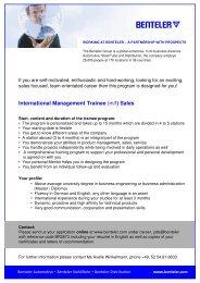 Anzeigenlayout Trainee Sales 2011