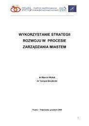 wykorzystanie strategii rozwoju w procesie zarządzania miastem