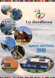 Rapport d'activités 2010 - Communauté de communes La Domitienne