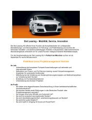 (m/w) Projektmanagement Vertrieb - Audimax