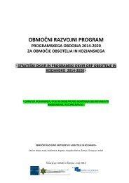 osnutek orp - Razvojna agencija Kozjansko