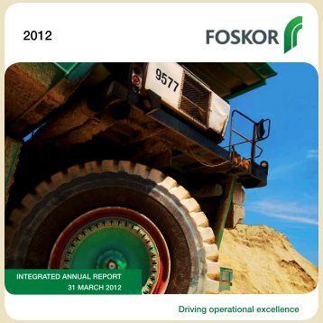 Download Annual Report 2012 - Foskor
