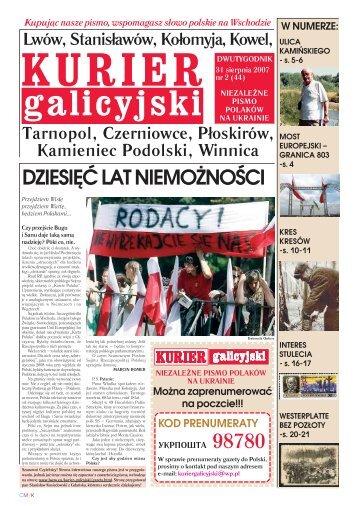 Kurier Galicyjski 2/2007 - Kresy24.pl