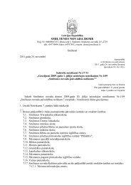 Grozījumi 2009. gada 1. jūlija saistošajos noteikumos Nr - Smiltene