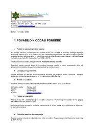 1. POVABILO K ODDAJI PONUDBE - Razvojna agencija Kozjansko