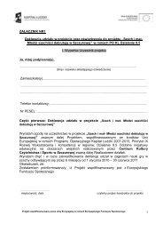 Deklaracja udziału w projekcie - Gminne Centrum Kultury ...