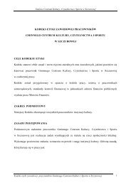 kodeks etyki zawodowej pracowników gminnego centrum kultury ...