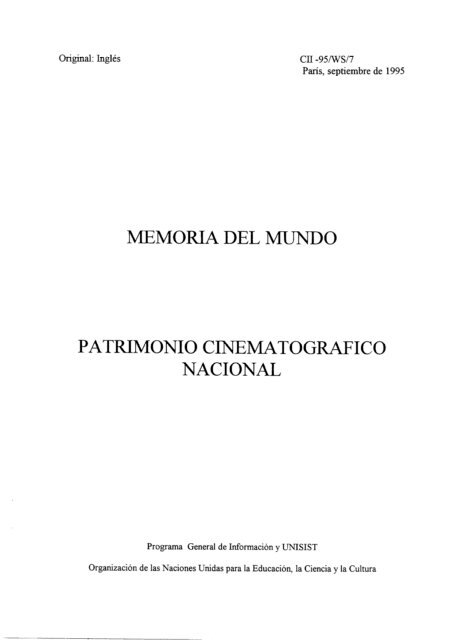 Memoria Del Mundo Patrimonio Unesdoc Unesco