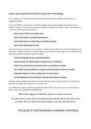 Lettera aperta agli operai di tutte le cooperative di ... - Operai Contro