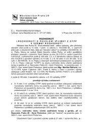 Rozhodnutí o povolerní výjimky z OTPP - Horní Počernice