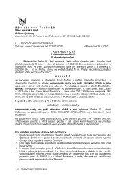 Rozhodnutí - revitalizace území v okolí ... - Horní Počernice
