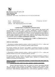 Oznámení o zahájení řízení o neodkladném ... - Horní Počernice