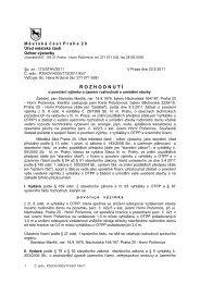 povolení výjimky a územ. rozhodnutí - parc.č. 422_3 - Horní Počernice