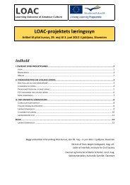 LOAC projektets læringsforståelse - Interfolk, Institute for Civil Society