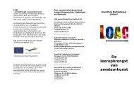 De leeropbrengst van amateurkunst - Interfolk, Institute for Civil Society