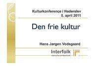 Den frie kultur - Interfolk, Institute for Civil Society