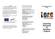 See Hand-out on LOAC Project - Interfolk, Institute for Civil Society