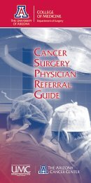 Cancer Surgery Physician Referral Guide - Department of Surgery