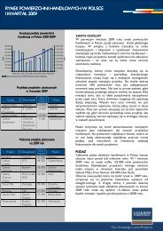 Rynek powierzchni handlowych w I kwartale 2009 r - QBusiness.pl