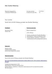 Obec Šarišské Michaľany Návrh VZN č.02/2012 Požiarny poriadok ...