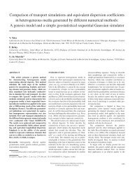 Comparison of transport simulations and equivalent ... - Geosphere