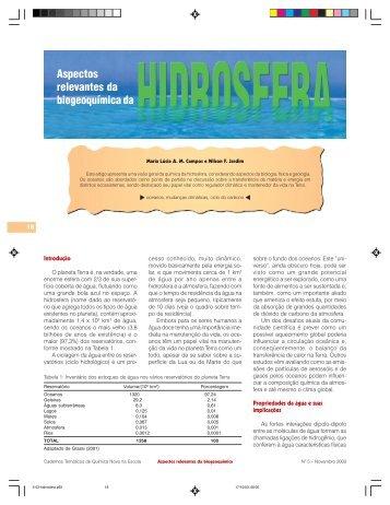 Aspectos relevantes da biogeoquímica - QNEsc
