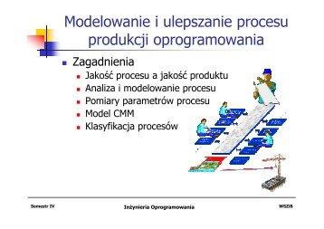 Modelowanie i ulepszanie procesu produkcji oprogramowania