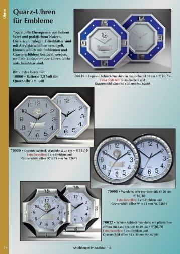 Quarz-Uhren für Embleme