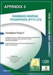 Comment Responses - Enviro Dynamics Namibia