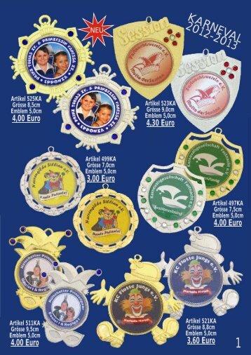 Karnevalsorden - Pokale