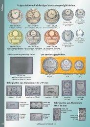 Reliefplatten aus Aluminium 146 x 97 mm 3er-Serie Prägoscheiben ...