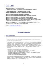CV F. Géa - déc. 2012 - Social-law.net