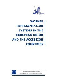 worker representation systems in the european ... - Social-law.net