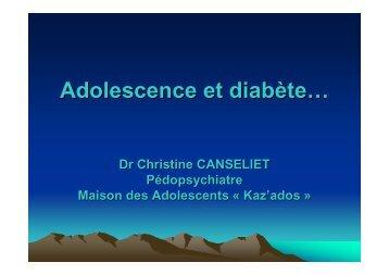 Adolescence et diabète te…