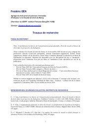 CV F. Géa - sept. 2011 - Social-law.net