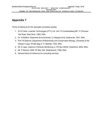 Appendix 7 - Enviro Dynamics Namibia