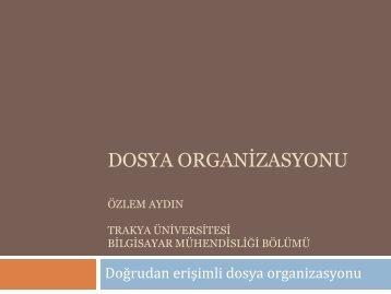 anahtar - Trakya Üniversitesi