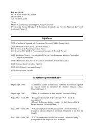 CV Patrice ADAM - Social-law.net