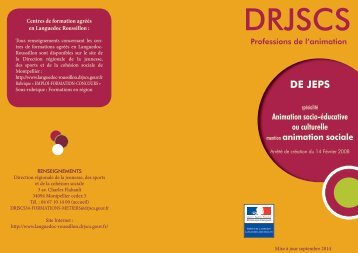 DE JEPS animation sociale - DRJSCS