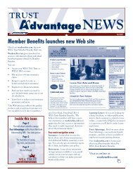 Member Benefits launches new Web site Inside this issue