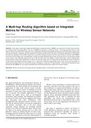 A Multi-hop Routing Algorithm based on Integrated Metrics for ...