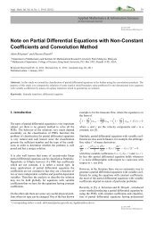 Note on Partial Differential Equations with Non-Constant ...
