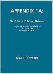 Appendix 1a - Fish and Fisheries Study - Enviro Dynamics Namibia