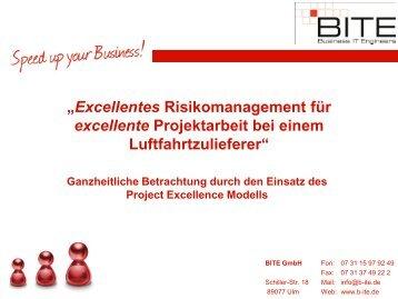 """""""Excellentes Risikomanagement für excellente ... - BITE GmbH"""