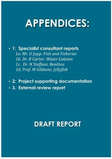 Appendix 1 - Specialist Consultants Reports