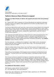 07_03_16 Tallinn's Rocca al Mare Prisma to expand - Finnfacts