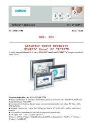 Annuncio nuovo prodotto SIMATIC Panel PC IPC277D