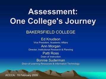 Assessment - Association of California Community College ...