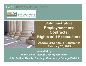 Administrative Employment and Contracts - Association of California ...