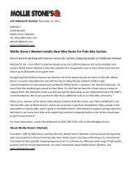 Mollie Stone's Market Installs New Bike Racks For Palo Alto Cyclists